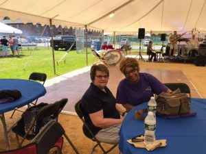 Community Day 2019 in tent